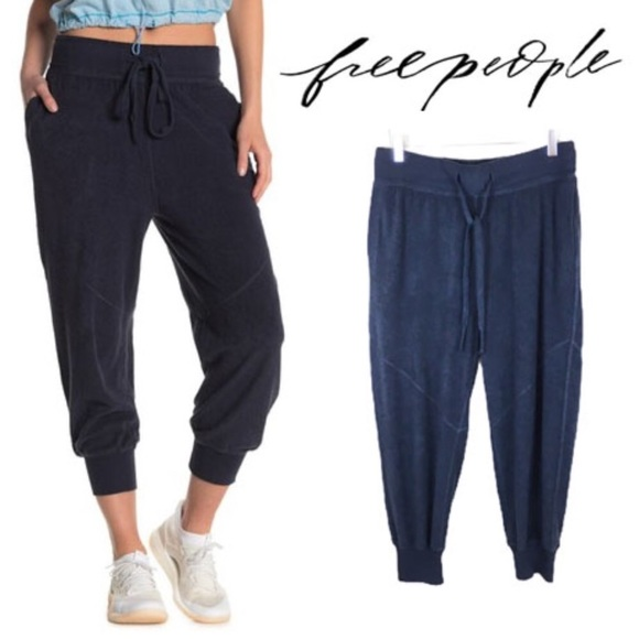 Free People Pants - Free People FP Movement Blue Terry Joggers S Small